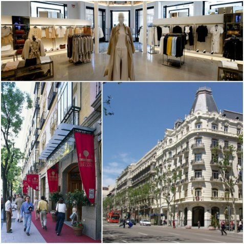 serrano street and calle goya are the busiestand most luxury shopping streets in Salamanca, both with an upmarket high street feel. Serrano has just emerged from a bit of a revamp, aimed at making the whole shopping experience more pleasant.