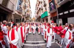 procession during San Fermín, (source: San Fermín)