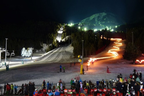 night skiing la molina 1
